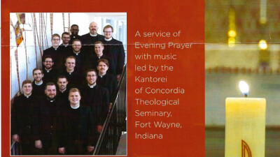 Evening Prayer with music led by the Kantorei of Concordia Theological Seminary